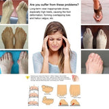 1 Pair Feet Bone Thumb Adjuster Correction Pedicure Toe Separator Hallux Valgus Bunion Corrector