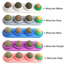 将图片加载到图库查看器,Pet Catnip Toy Edible Catnip Ball Safe and Healthy Cat Mint Ball Cat Family Chasing Game Toys Cleaning Teeth Protecting The Stomach