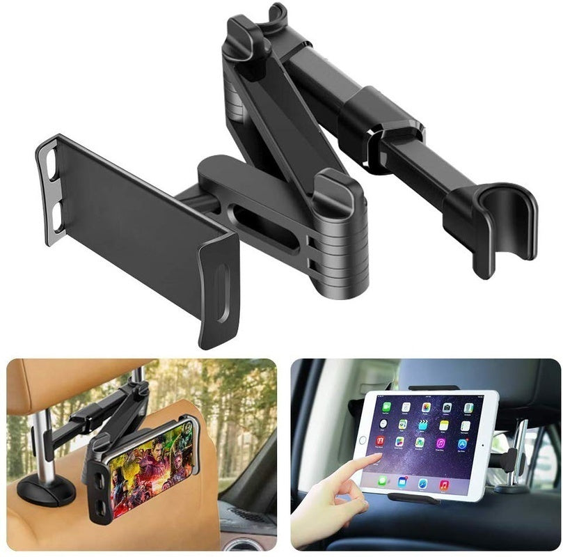2020NEW 360¡ã Rotation Car Headrest Holder For Phone & Tablet Mount Stretchable Car Seat Mount For Android & Apple Tablets iPad mini 1/2/3/4 iPad air iPad pro iPhone and other Mobile Phones