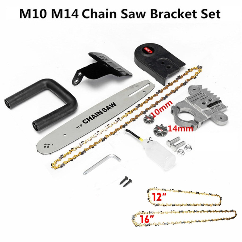 12' 16' Electric Saw Chainsaw Stand Bracket Wood Cut For 100/125/150 Angle Grinder Accessories [Not Include Angle Grinder]