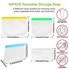 Load image into Gallery viewer, OURWARM PARTY Reusable Storage Bags Extra Thick Leakproof Silicone Plastic Free Ziplock Lunch Bags