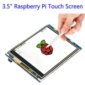 2/4GB RAM Raspberry Pi 4 Model B with 3.5' TouchScreen Kit with Acrylic Case Power Supply SD Card HeatSink HDMI Cable