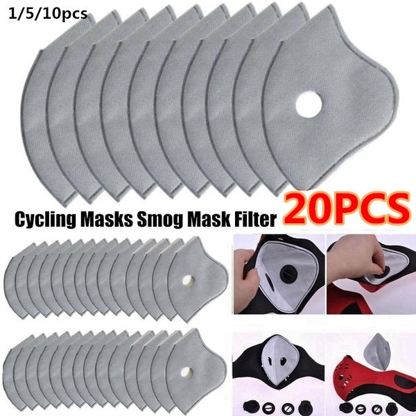 1/5/10/20pcs Hot sale Breathable Outdoor Accessories 5 layers Anti-dust Tool Motorcycle Bicycle Cycling Smog Mask Filter Activated Carbon Masks