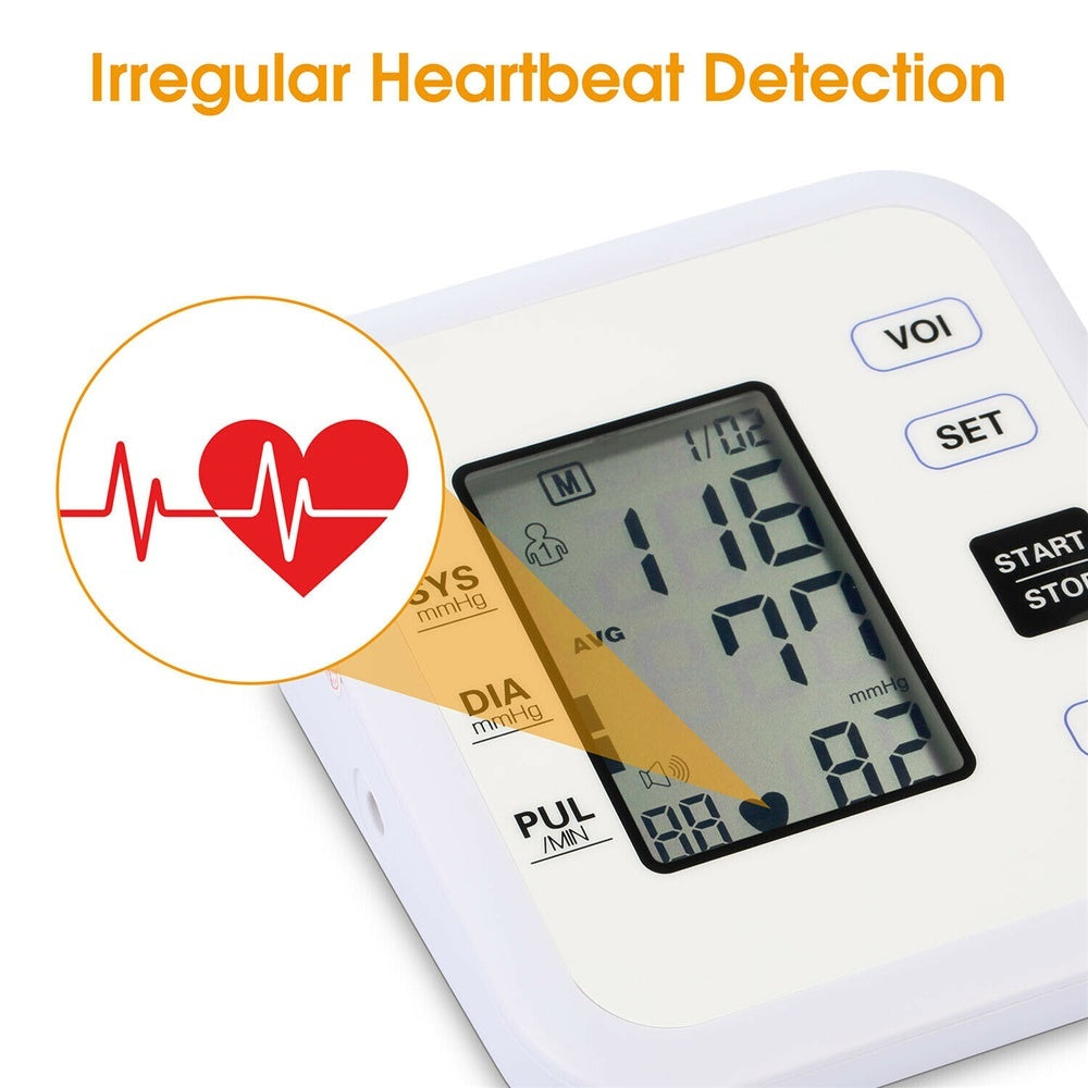 Digital Sphygmomanometer Automatic Blood Pressure Monitor Heart Beat Rate Pulse Meter Tonometer For Health Care High Accuracy Fast Measure