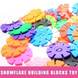 100/300PCS Multicolor Kids Snowflake Creative Puzzle Building Blocks Kids Early Educational Toys Ideal Gift for Children
