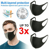 1/3/6/9PCS Face Mouth Mask Anti Dust Mask Filter Windproof Mouth-muffle Bacteria Proof Flu Face Masks Care Reusable Washable