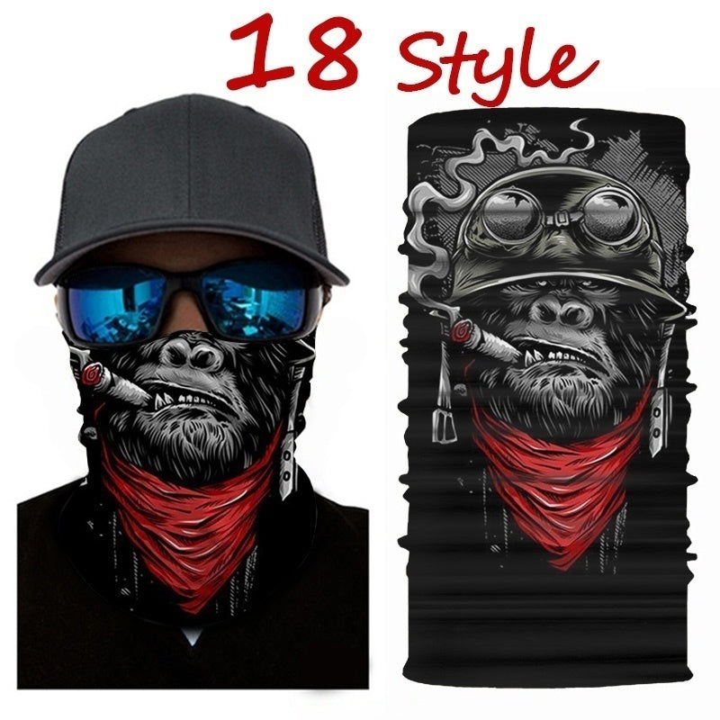 3D Seamless Ski Magic Scarf Cool Warmer Tube Half Shield Face Mask Headband Snowboard Bicycle Sports Outdoor Headwear Men