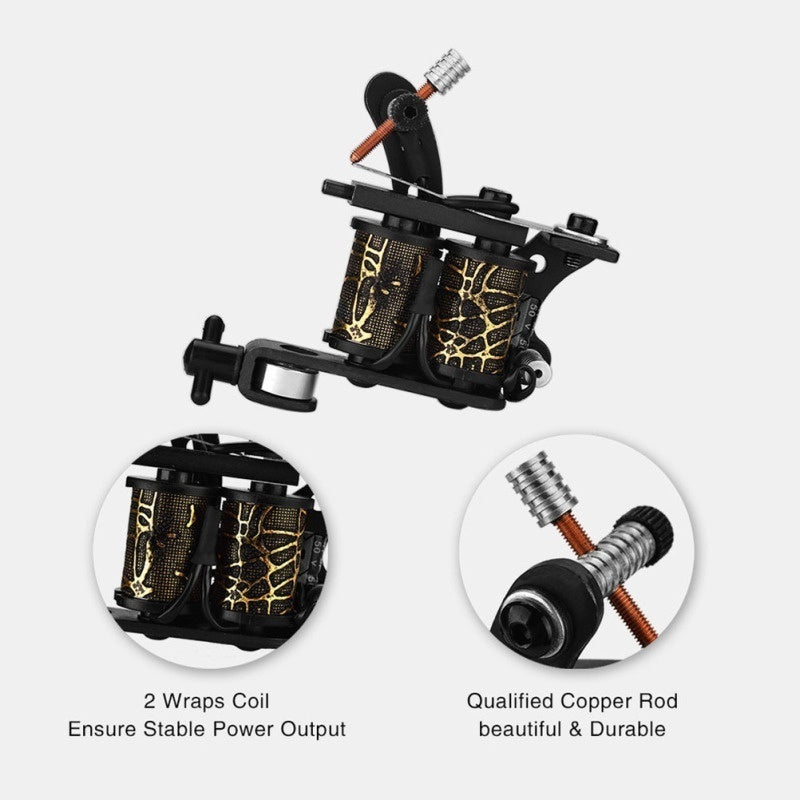 8 Wraps Coil Tattoo Machine Liner Shader Handmade Machine Rotary Tattoo Machine Body Tattoo Tools