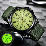 New  Glow in the Dark Watches Tops Brand Luxury Military Mens Clock Quartz Army Watch Black Dial Date Luxury Sport Wrist Watch