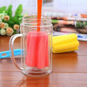 2pcs Soft Sponge Brush Bottle Cup Wine Glass Washing Cleaning Kitchen Cleaner Tool