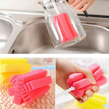 Load image into Gallery viewer, 2pcs Soft Sponge Brush Bottle Cup Wine Glass Washing Cleaning Kitchen Cleaner Tool