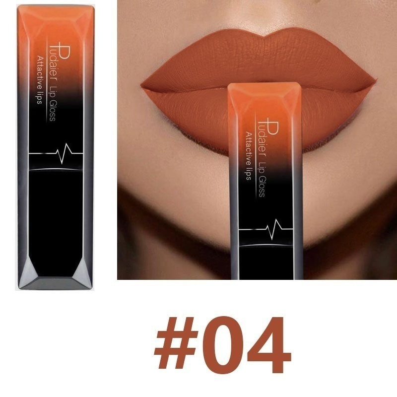 17 Colors Sexy Fashion Long Lasting Lipstick Lips Makeup Cosmetics Waterproof Matte Velvet Lip Gloss Rouge A Levre Labial
