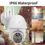 63 LEDs 4x 5DB Antennas IP Camera HD 1080P WiFi Full Color Night Vision Smart Home Security Surveillance Two-Way Audio Motion Detection Network PTZ Camera