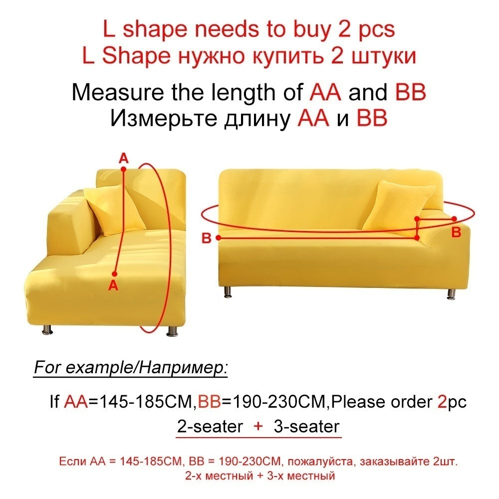 16 Colors Stretch Slipcovers 1/2/3/4 Seaters Sectional Elastic Stretch Sofa Cover for Living Room Couch Cover L Shape Armchair Cover Sofa Cover Furniture Protector Couch + 1 Free Softpillow Cover