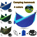 Single & Double Camping Hammock with Straps - Lightweight Nylon Portable Hammock, Best Parachute Hammock for Backpacking, Camping, Travel, Beach, Yard