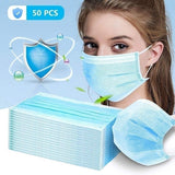 3 Layer Disposable Medical Protective Face Mouth Masks PM2.5 Bacterial Facial Dust-Proof Safety Masks