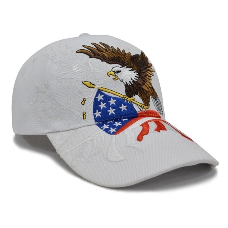 2020 America Donald Trump 2020 Election Baseball Peaked Cap Hat Eagle Embroidery Hat Sun Hat Donald Trump Republican Hat Cap Trendy Gifts