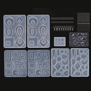 245Pcs DIY Jewelry Casting Molds Tools Set Silicone Jewelry Resin Moulds