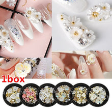 Load image into Gallery viewer, 1 Box Shell Flower Jewelry Decoration Jewelry Mixed Irregular Beads Nail Manicure Art Decoration Nail Art Tools
