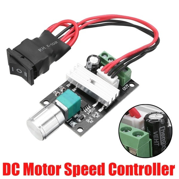 DC 6V/12V/24V 3A PWM Motor Speed Controller Adjustable Forward Reverse Switch