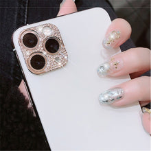 Load image into Gallery viewer, Diamond Camera Lens Protector Film For iPhone 11 Pro Max Glitter crystal Len Protector Cover For iPhone11 Pro Max Glass Cover