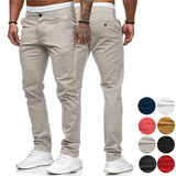 Men's Business Straight Pants Solid Color Business Pants Formal Dress Pants Wedding Pants