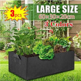 3/2/1 pcs Raised Plant Planter Pot Fabric Garden Flower Planter Elevated Vegetable Box Planting Grow Bag Rectangle Breathable Planting Container Grow Bag Planter Pot