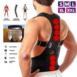 Adjustable Magnetic Posture Back Support Corrector Belt Band Belt Brace Shoulder Lumbar & Lower Back Support Belt Brace Strap Pain Relief Posture Waist Trimmer