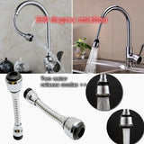 360-degree Rotating Adjustable Water Saving Aerator Swivel Tap Kitchen Faucet Tap Nozzle Faucet Filter Kitchen Accessories