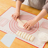 Non-slip Silicone Pastry Mat  with Measurements Baking Mat, Counter Mat, Dough Rolling Mat,Oven Liner,Fondant Pie Crust Mat