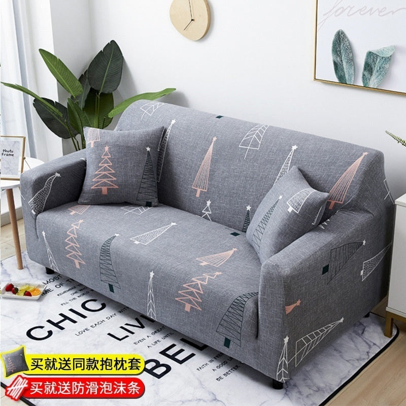 TOP QUALITY 16 Colors 1/2/3/4 Seaters Sofa Slipcover Stretch Protector Soft Couch Cover Anti-Slip Elastic Home Indoor Furniture Decor Sofas Stretch Sofa Slipcover Sofa Cover Furniture Protector Couch + 1 Free Softpillow case