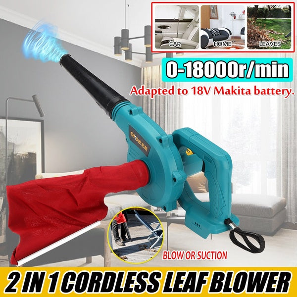 For 18V Makita Battery 2 In 1 Cordless Leaf Blower Shredder And Electric Air Vacuum Cleaner Replacement Cordless Blower Suction + Air blowing (without Batteries)