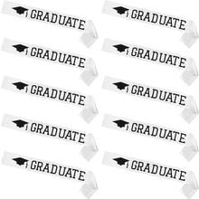 Load image into Gallery viewer, 2020 Graduate White Boy Girl Unisex Satin Sash High School College Graduation Party Decoration Gift Supplies Photo Booth Props