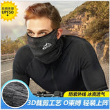 Spring Summer Cycling Face Mask UV Protection Riding Running Scarf Breathable Cool Ice Silk Sports Headwear Bike Headband Mask
