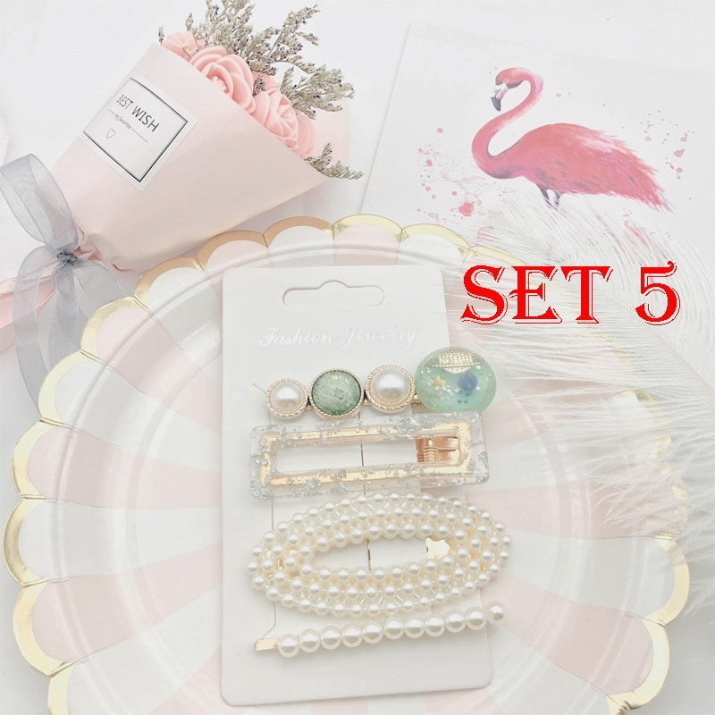 3/4/6PCs Fashion Korea Hairpins Set Elegant Pearl Hair Clips Star Pearl Hairclip Pins Women Hairwear Jewelry Accessories