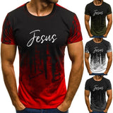 4 Colors Jesus Short-Sleeve Unisex T-Shirt 2020 Fashion Men's Casual Print Christian T-shirt S-5XL