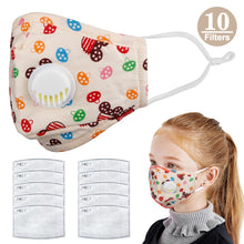 Load image into Gallery viewer, Kids Cotton PM2.5 Anti-smog Anti-Dust, Smoke, Gas and Allergies Adjustable and Reusable N95 Masks Activated Carbon Mask Protection with 10 Filters