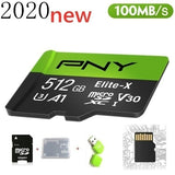 2020 new PNY high speed 256GB 128GB 64GB USB drive Micro SD Micro SDHC Micro SD SDHC card 10 UHS-1 TF memory card + card reader
