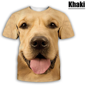New Fashion Men Women Funny Dog 3D Print T-Shirt Cartoon Animals Short Sleeve Tees