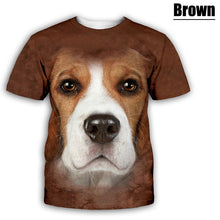 Load image into Gallery viewer, New Fashion Men Women Funny Dog 3D Print T-Shirt Cartoon Animals Short Sleeve Tees