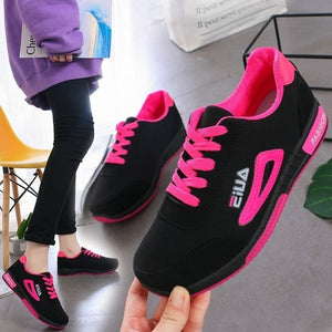 EU35-40 Casual Women's Sports Running Shoes Sneakers Women Lace Up Breathable Tennis Shoes Outdoor Sneakers Plus Size