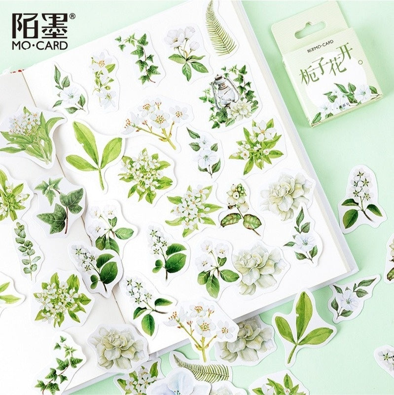 1 Box Stationery Stickers Bullet Journal Stickers Scrapbooking Diary Cute Plant Flower Decorative Stickers School Supplies