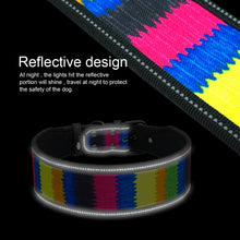 Load image into Gallery viewer, Reflective Nylon Dog Collar Adjustable Pet Collars For Medium Large Dogs Pitbull German Shepherd S M L
