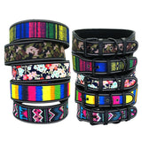 Reflective Nylon Dog Collar Adjustable Pet Collars For Medium Large Dogs Pitbull German Shepherd S M L