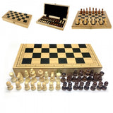 Brand New Wooden International Chess 30*30cm Foldable Chessboard Indoor Board Travel Indoor Game
