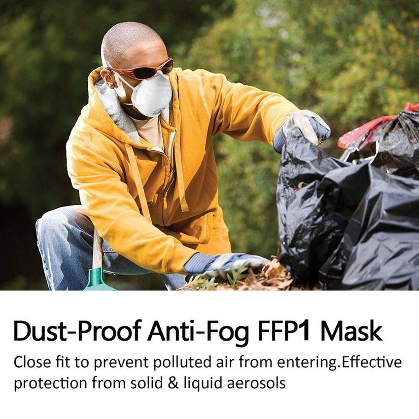5pcs Vented Face Mask FFP2/FFP1 PM2.5 Anti Air Pollution N95 Face Mask With Respirator & Filters