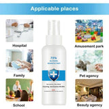 2020 NEW 59ML Disposable 75% Alcohol Disinfectant Washing-free Portable High-efficiency Disinfection Antibacterial Solution Mist Spray