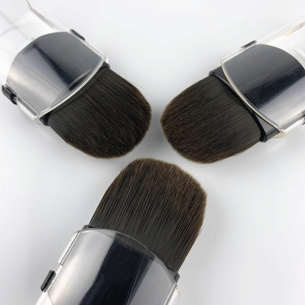 Travel Portable Makeup Brushes Cheek Loose Powder Brush Beauty Fix Make Up Tools Retractable Single Small Cosmetics Brushes Foundation