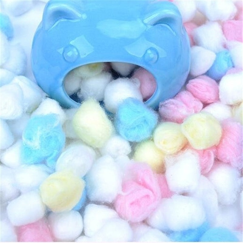 50/100Pcs/bag Hamster Cage Keep Warm Cotton Ball Nest House Filler for Hamster Rat Mouse Small Pet House Decor