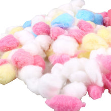Load image into Gallery viewer, 50/100Pcs/bag Hamster Cage Keep Warm Cotton Ball Nest House Filler for Hamster Rat Mouse Small Pet House Decor